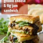 Vegan Mozzarella & Fig Jam Grilled Cheese