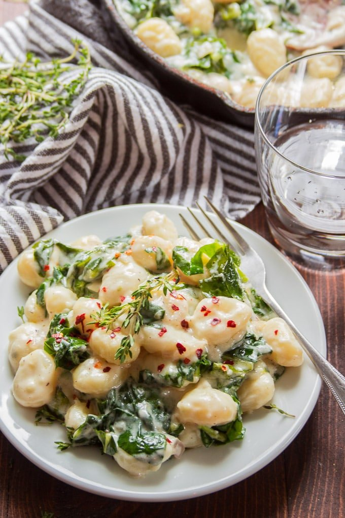 Vegan Gnocchi with Creamy Lemon Garlic Sauce