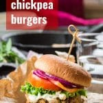 Greek Chickpea Burgers