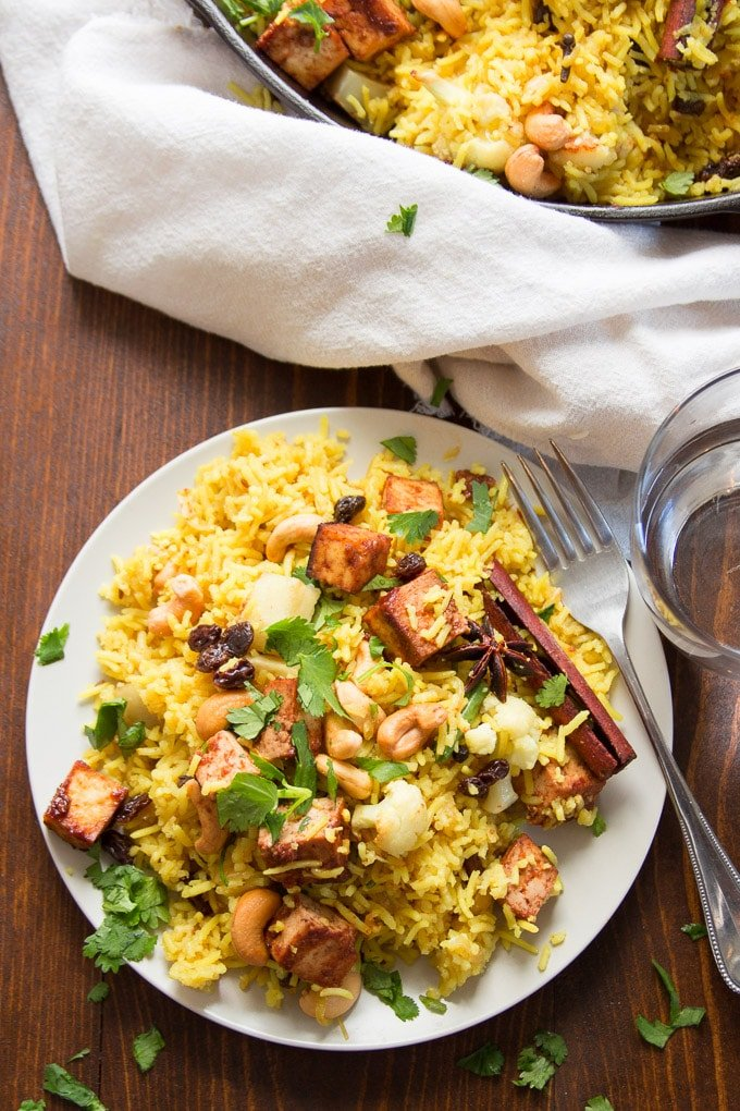Roasted Vegetable Biryani With Baked Tofu Connoisseurus Veg