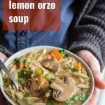 Mushroom Lemon Orzo Soup