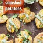 Garlic Smashed Potatoes with Basil Aioli