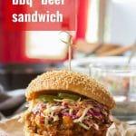 "Vegan Barbecue ""Beef"" Sandwiches"