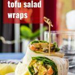 Curried Tofu Salad Wraps
