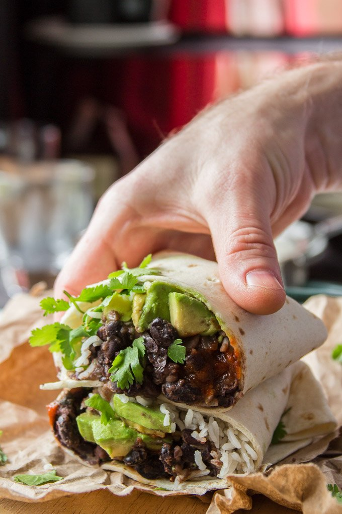 Spicy Black Bean Burritos Connoisseurus Veg