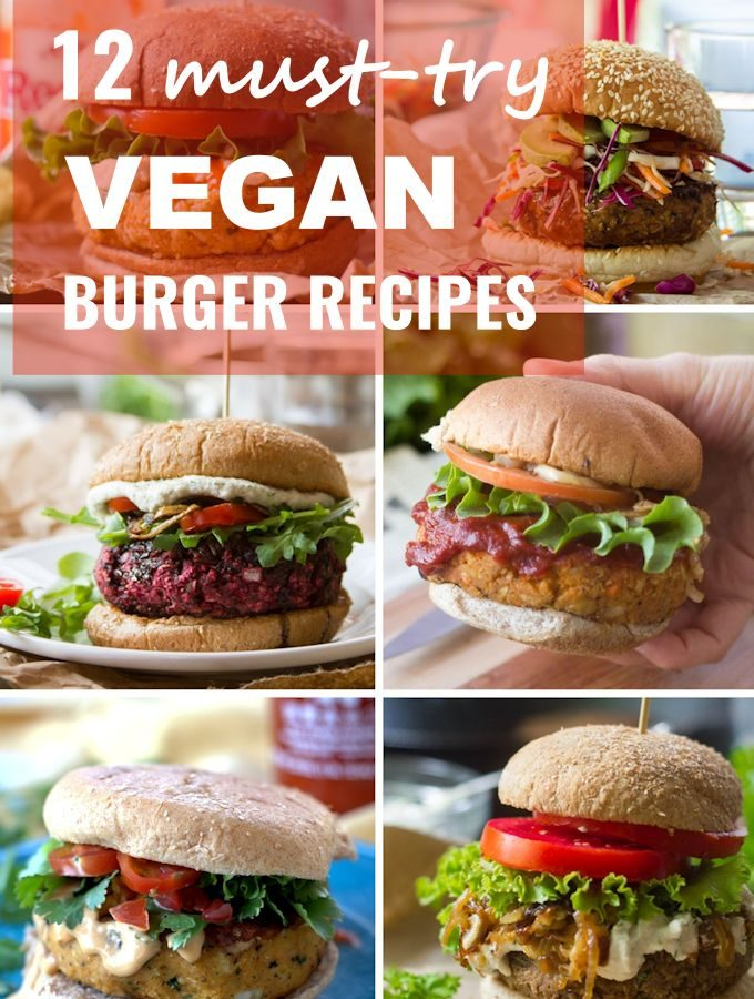 Collage Showing 6 Veggie Burgers