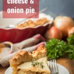 Vegan Cheese & Onion Pie