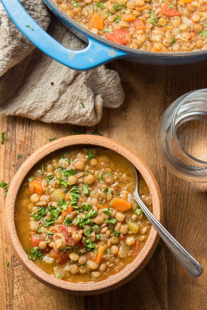 Classic Lentil Soup Connoisseurus Veg