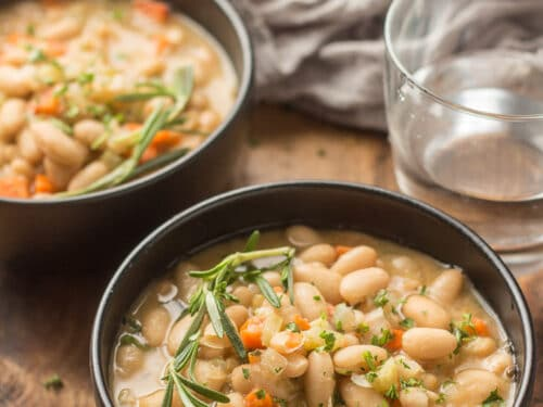 Rosemary White Bean Soup Connoisseurus Veg