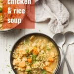 Vegan Chicken & Rice Soup