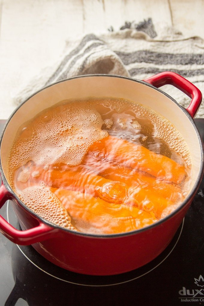 Carrots Boiling in a Pot of Water