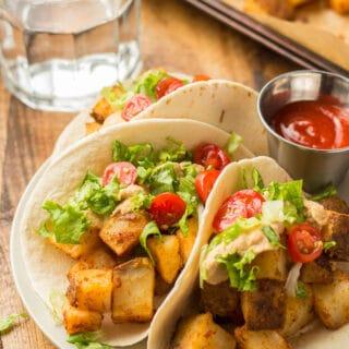 Spicy Potato Tacos