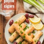 Vegan Stuffed Phyllo Cigars