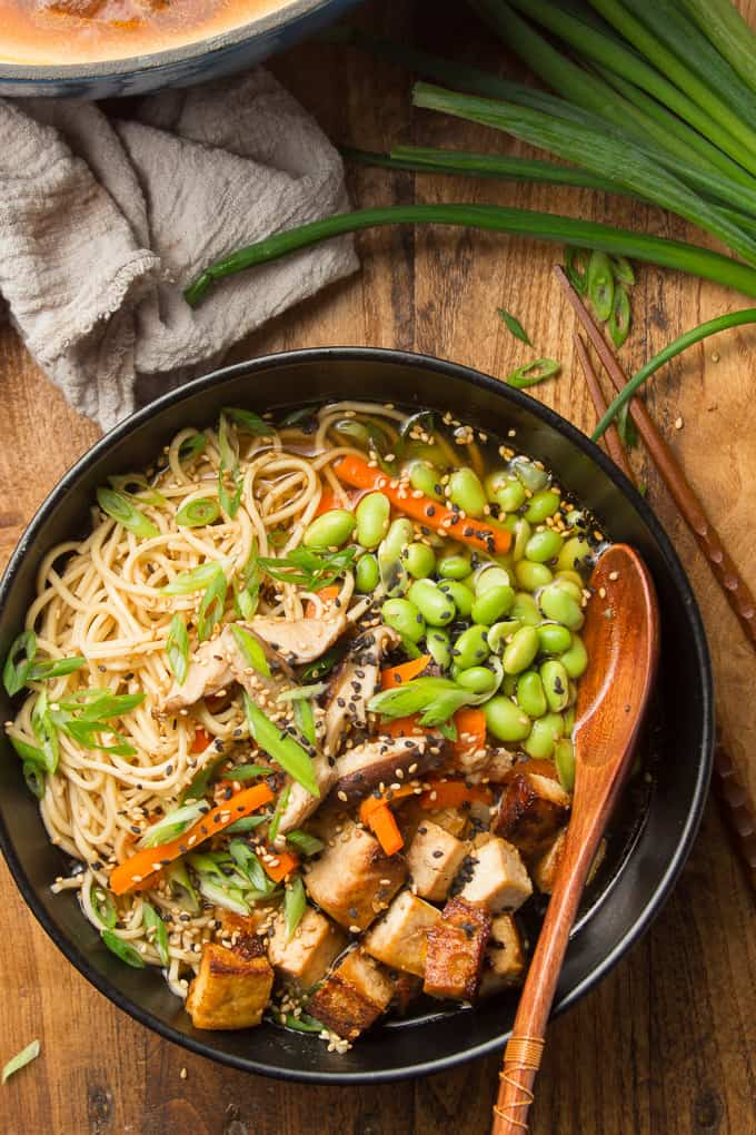 Vegan Ramen With Glazed Tofu Connoisseurus Veg