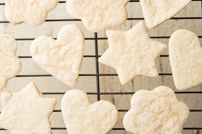 Vegan Sugar Cookies on a Cooling Rack