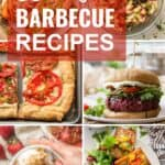 """Collage of Vegan Food with Text Overlay Reading """"30+ Vegan Barbecue Recipes"""""""