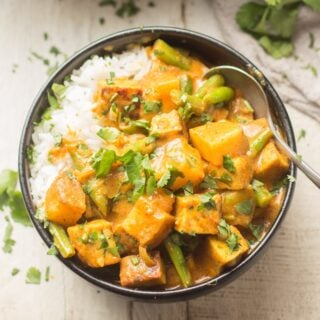 Bowl of Yellow Curry with Rice